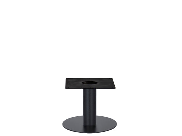 IntAfit Table Base For Integrated Cable Management Black Base & Column - D580 x H450