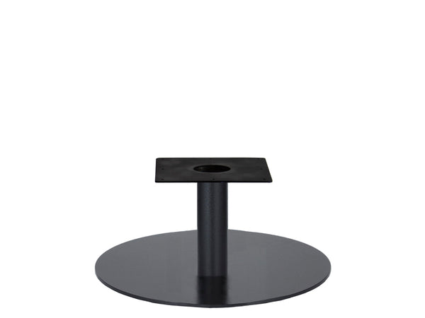 IntAfit Table Base For Integrated Cable Management Black Base & Column - D720 x H450