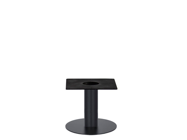 IntAfit Table Base For Integrated Cable Management Black Base & Column - D500 x H450