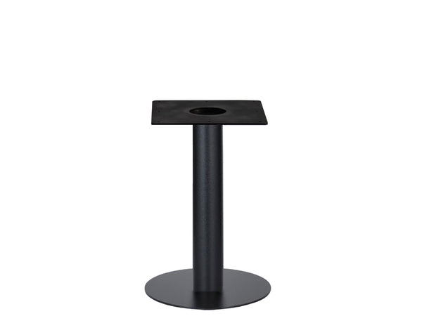 IntAfit Table Base For Integrated Cable Management Black Base & Column - D580 x H690