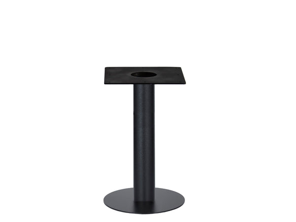 IntAfit Table Base For Integrated Cable Management Black Base & Column - D500 x H690