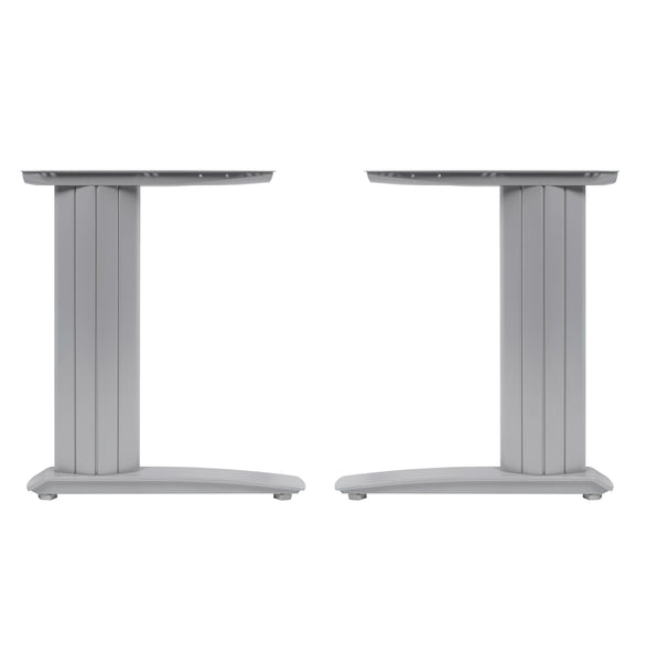 Cantilever Desk Frame for 600mm Deep Top & Up To 1000mm Wide - Silver - Eurofit Direct