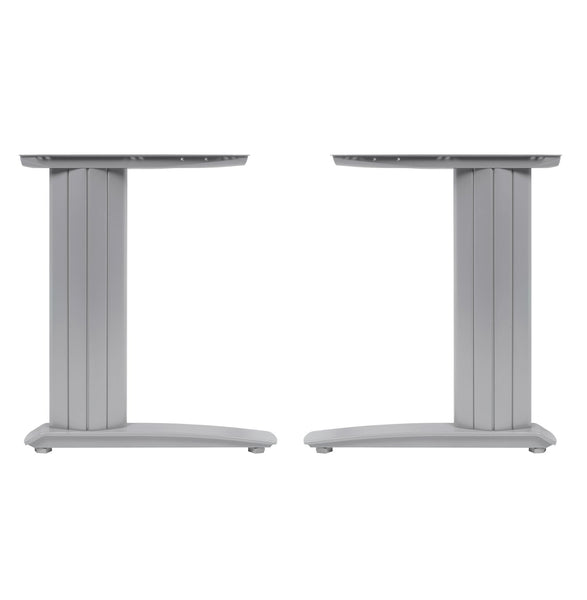 Cantilever frame desk 800mm deep top up to 1000mm wide Silver - Eurofit Direct