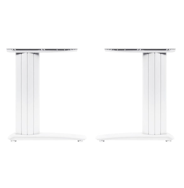 Cantilever frame desk 800mm deep top up to 1800mm wide White