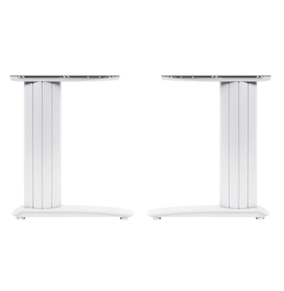 Cantilever frame desk 600mm deep top up to 1800mm wide White