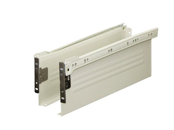 Metal Drawer Side Pack 30kg H150 x L400mm Ext 75% Cream