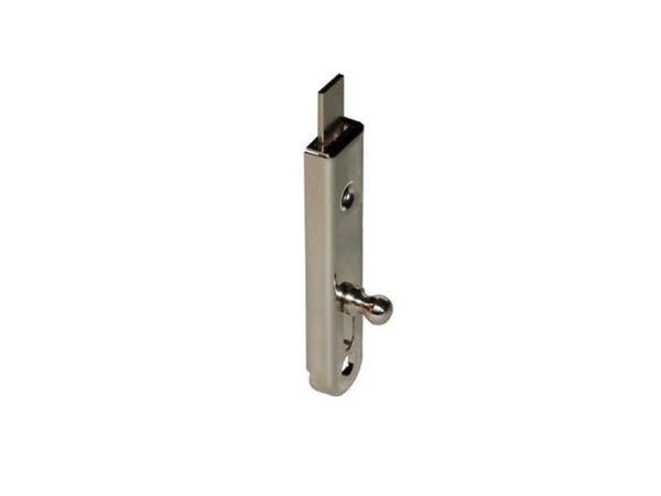 Shoot Bolt For Cupboard Doors - Nickel Plated