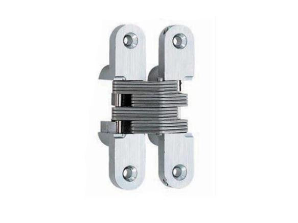 Lamp Concealed Door Hinge -100mm - Satin Chrome