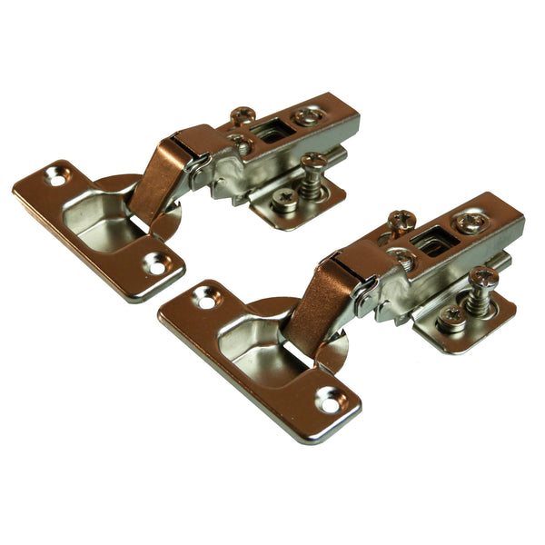 Clip On Half Overlay Hinge - 110 Deg - 18mm Side