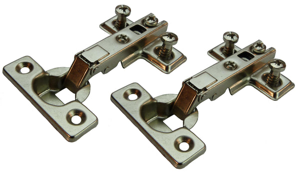 Tutti Cabinet Mini Hinge Full Overlay 95° Pair - Eurofit Direct