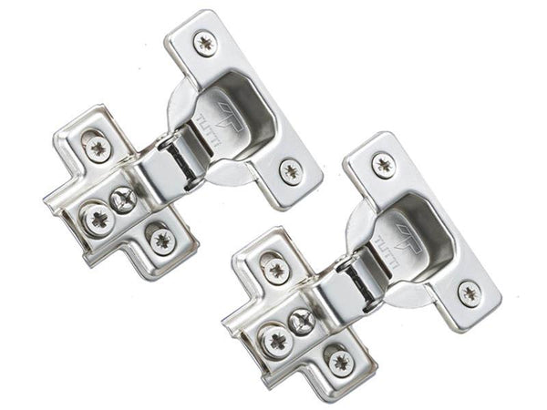 Tutti Face Frame Cabinet Hinge 16mm Overlay  110° Pair - Eurofit Direct