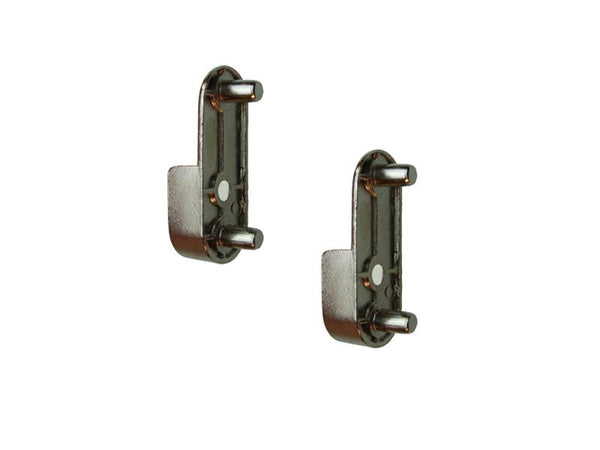 Wardrobe Rail End Support With Dowels Nickel Plated | Eurofit Direct