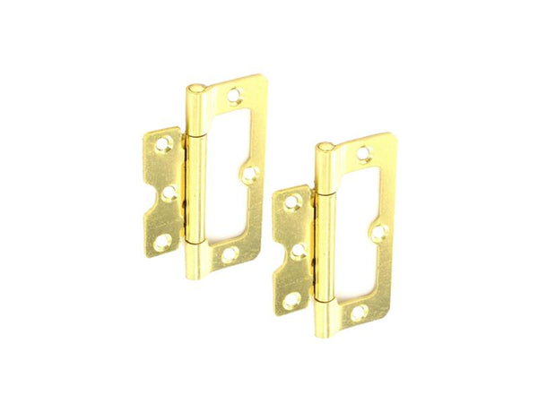 Hurl Steel Hinge H100 x W40 x T2.2mm Brass Plated