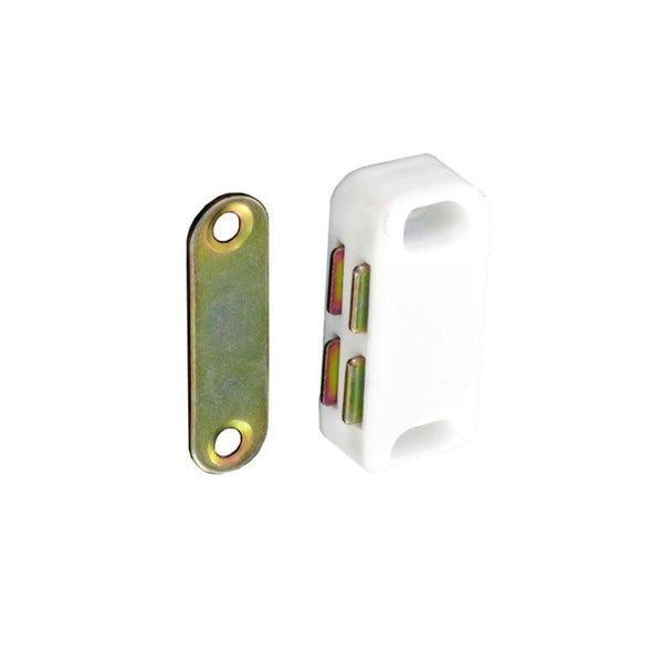Magnetic Catch - White - 40mm - Pack of 2