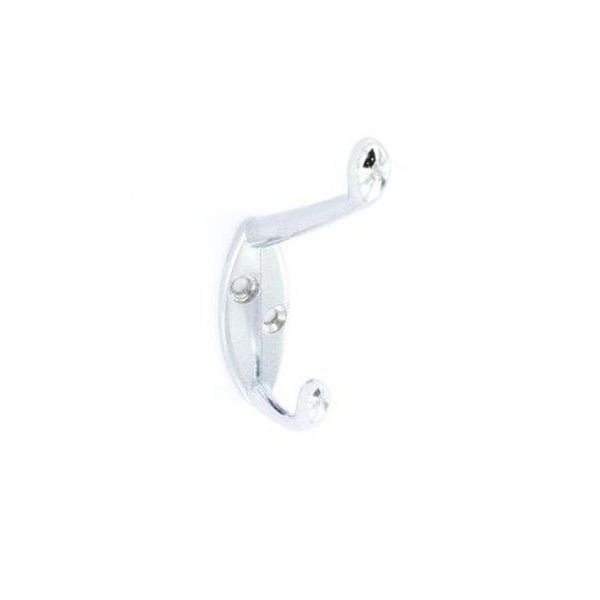 Hat & Coat Hook - 105mm - Chrome Plated - Pack of 5