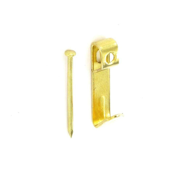 Single Picture Hook - Electro Brass - Pack of 50 - Eurofit Direct
