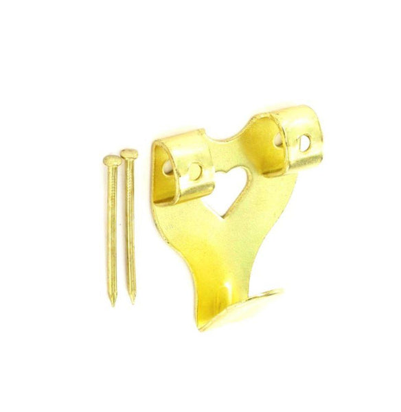 Double Picture Hook - Electro Brass - Pack of 50