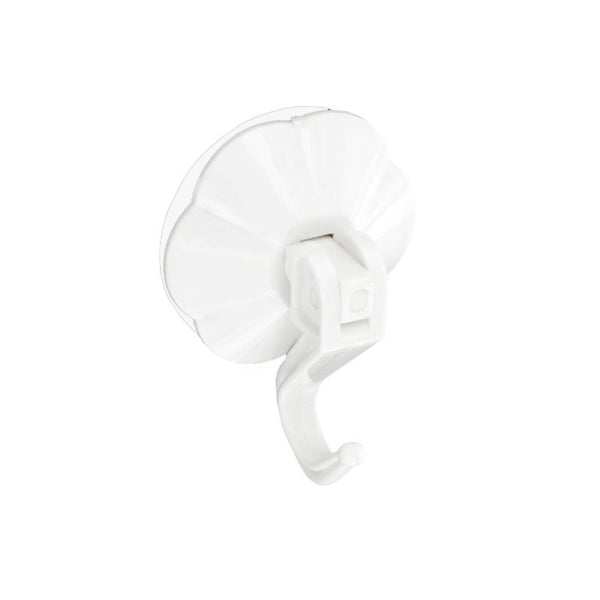Suction Hook With Lever - 50mm - White - Pack of 4