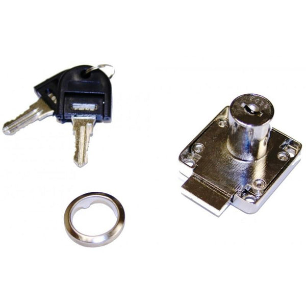 D18 Cupboard Lock R/H Barrel 18 x 20mm Key 001-100