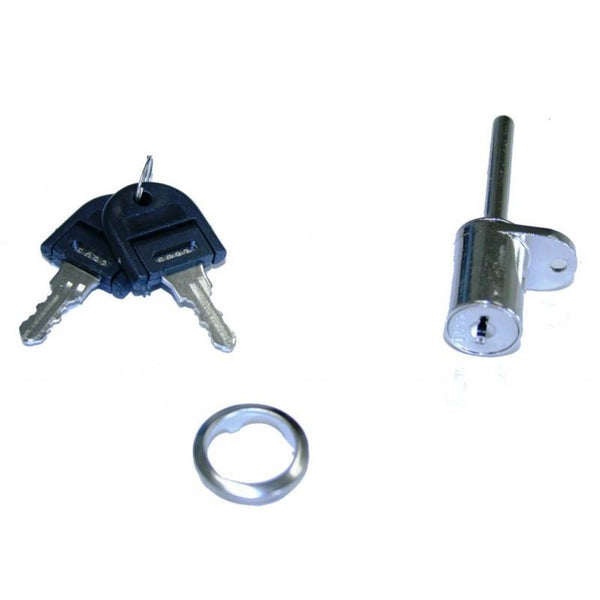 D18 Pedestal Lock R/H Barrel 18 x 20mm Key 001-100 - Eurofit Direct