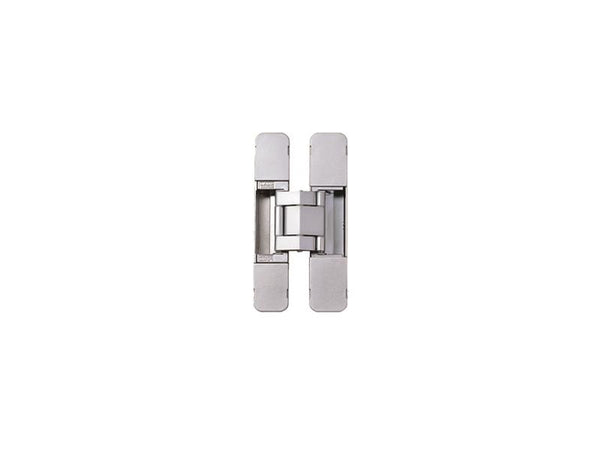 Concealed Hinge 120 x 23mm 3D Adjustment Silver (Min Door Thickness 29mm)