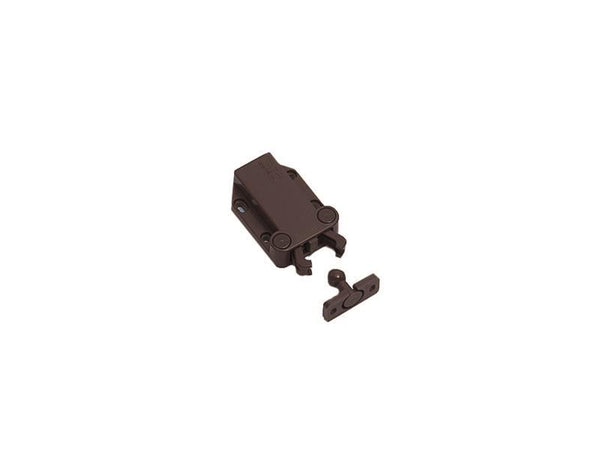 Non Magnetic Retaining Touch Latch - R/F 78N - Brown - Eurofit Direct