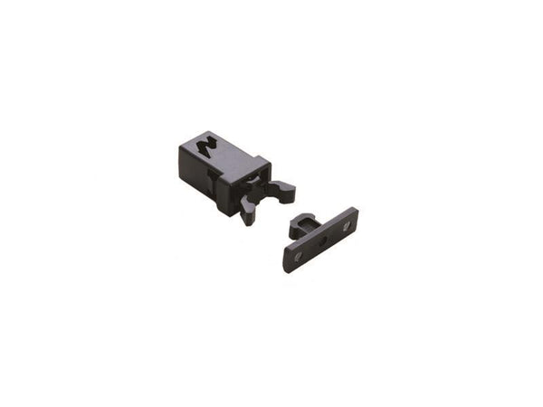Non Magnetic Retaining Mini Touch Latch - R/F 34N - Black - Eurofit Direct