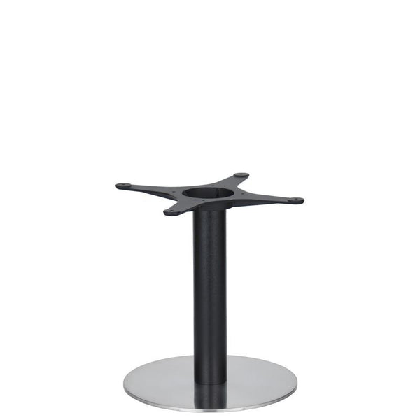 Golden Gate Brushed S/Steel Base & Black Column D400xH450mm - Eurofit Direct