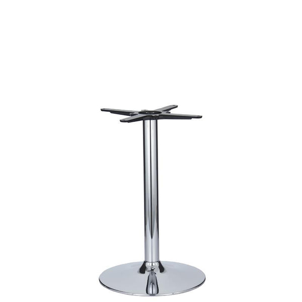 Eurofit Small Vancouver Chrome Base & Column - Diameter 430mm - Height 690mm