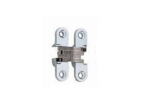 Concealed Hinge 43 x 11mm Satin Chrome (Min Door Thickness: 13mm)