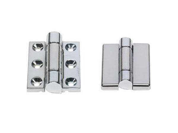 Sugatsune Surface Mount Torque Chrome Hinge 180 Deg 2.94NM - Eurofit Direct