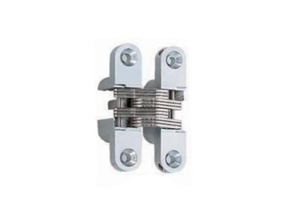 Concealed Hinge 60 x 13mm Satin Chrome (Min Door Thickness: 19mm)