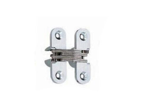 Lamp Concealed Door Hinge - 45mm - Satin Chrome