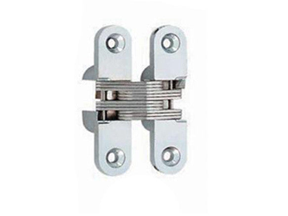 Concealed Hinge 70 x 16mm Satin Chrome (Min Door Thickness: 25mm)