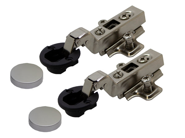 Tutti Cabinet Hinge Glass Door Inset Silver Cover 95° Pair