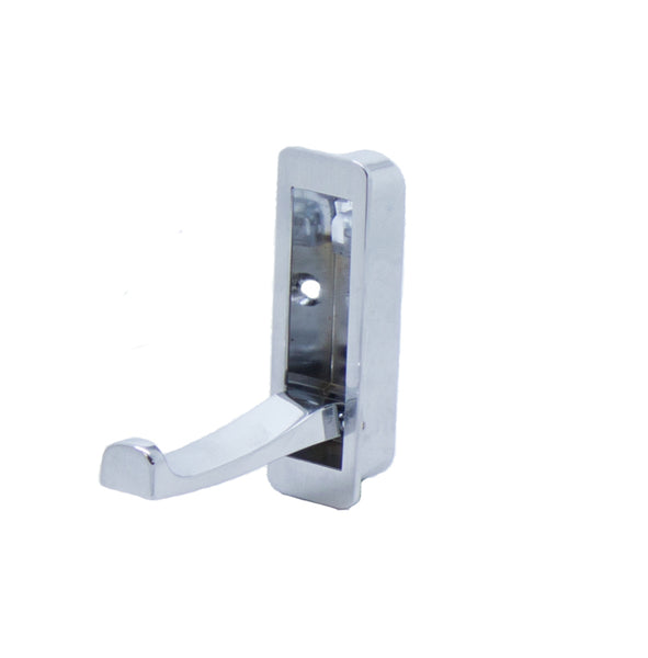 Recessed Folding Coat Hook Height 80mm - Satin Chrome - Eurofit Direct