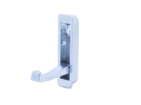 Recessed Folding Coat Hook Height 80mm - Polished Chrome