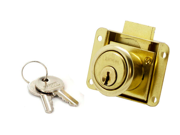 Drawer Lock - 50mm -  Brass