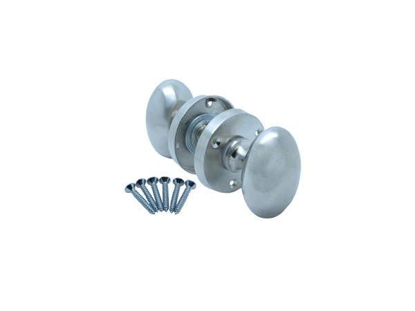 Securit Door Knob - Oval - Mortise - Nickel Plated