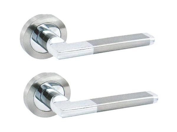 Securit Ultra Latch Handle - Satin Nickel/Chrome Plated