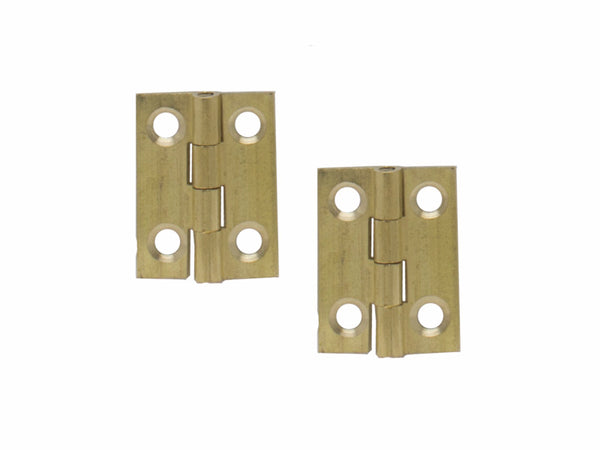 Brass Butt Hinge H25 x W19 x T1mm  Self Colour