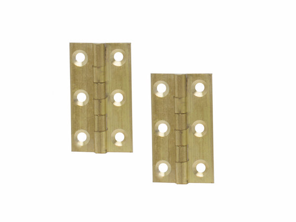 Brass Butt Hinge H38 x W19 x T1mm Self Colour