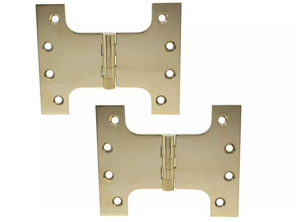 Parliament Brass Hinge H100 x W125 x 4mm Polished - Eurofit Direct