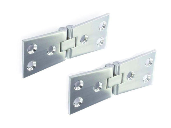Counterflap Brass Hinge H30 x W100mm x T3mm Chrome Plated