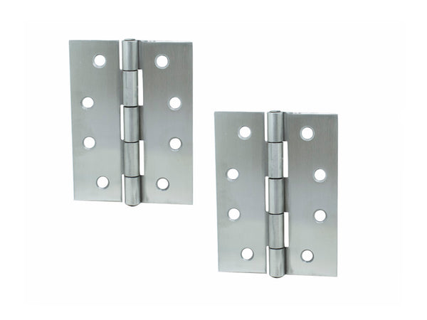 Butt Hinge H100 x W70 x T1.5mm Satin Stainless Steel