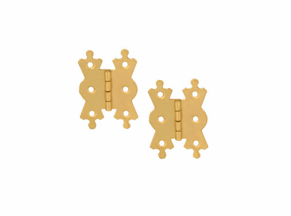 Decorative Steel Butt Hinge H50 x W35 x T1mm Brass Plated