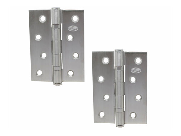 Double Ball 304 S/S Butt Hinge H100 x W75 x T2mm Satin - Eurofit Direct
