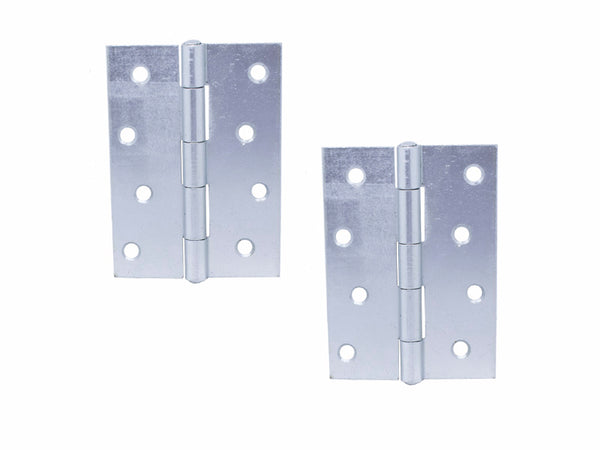 Steel Butt Hinge H100 x W70 x T1.5mm Zinc Plated - Eurofit Direct