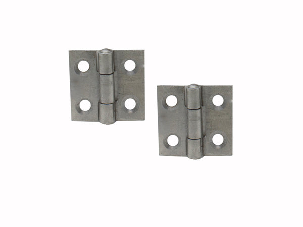 Steel Butt Hinge H25 x W25 x T1mm Self Colour