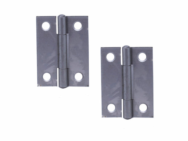 Butt Hinge H50 x H40 x T1.3mm Self Colour Steel